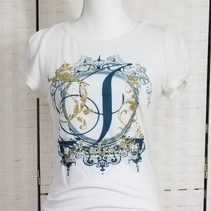 Juicy Couture Gold Glitter T-Shirt